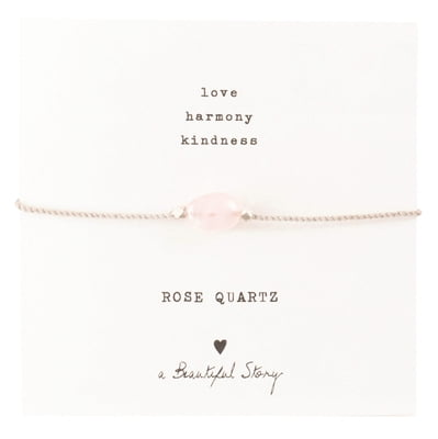 "A Beautiful Story Edelsteinkarte ""Rose Quartz"" Armband - 1 Stk"