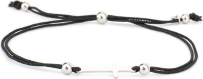 COWstyle Armband Messina, silber - schwarz-silber