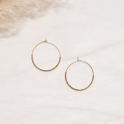 EVE + ADIS Ohrringe SKINNY HOOPS gold - 1 Stk