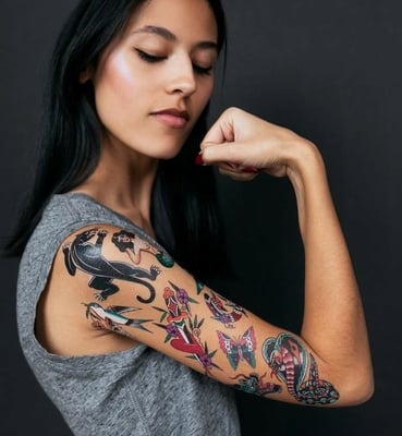 "TATTLY Temporäre Tattoos ""Americana Set"" - 1 Set"