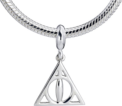 """Harry Potter """"Deathly Hallows"""" Sterling Silver Slider Charms - 1 Stk"""