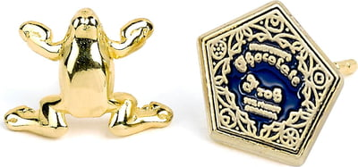 """Harry Potter Ohrstecker """"Chocolate Frog Gold Plated"""" - 1 Paar"""
