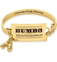 Disney Dumbo Armreif - Zirkus Ticket, Gelbgold