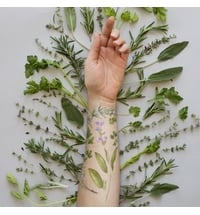 "Temporäre Tattoos ""Bouquet Garni Set"" - parfürmiert"