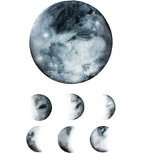 "TATTLY Temporäre Tattoos ""Moon Phases"" - Pair"