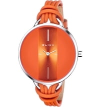 Damenuhr Finesse Orange inkl. modischem Armband